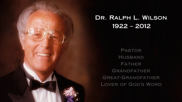 A tribute to Dr. Ralph L. Wilson